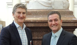 Damien Sheehan, Wine Victoria Chair and Mr John Eren MP