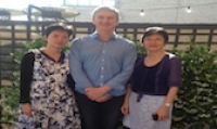 Kandy Xu; Chinese Wine Association of Australia; Damien Sheehan, Wine Victoria and Bonnie Shek, Hong Kong Trade Development Council